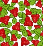 Modèle sans couture de fraise Photos stock