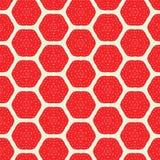Modèle sans couture de fraise abstraite Image libre de droits