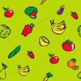 Modèle sans couture de fruit coloré Photo libre de droits