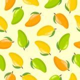 Modèle sans couture de fruit de mangue illustration stock