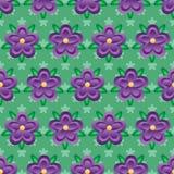 Modèle sans couture de gradient de fleur de style pourpre de batik Illustration Libre de Droits