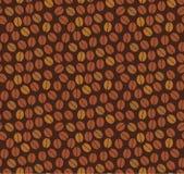 Modèle sans couture de grains de café Photo stock