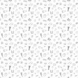 Modèle sans couture de griffonnage avec les produits ketogenic Illustration de Vecteur