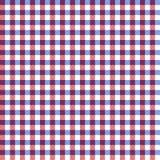 Modèle sans couture de guingan rouge, blanc, et bleu illustration stock