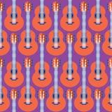 Modèle sans couture de guitare Photo libre de droits