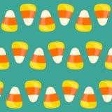 Modèle sans couture de Halloween avec des bonbons au maïs Illustration de vecteur Photo libre de droits