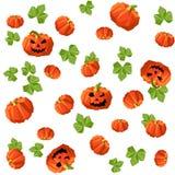 Modèle sans couture de Halloween des potirons dans le bas-poly style photographie stock