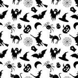 Modèle sans couture de Halloween sur un fond blanc Image libre de droits