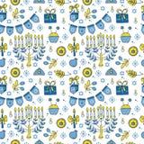 Modèle sans couture de Hanoucca Image stock