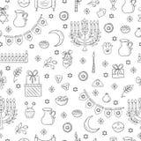 Modèle sans couture de Hanoucca Photographie stock libre de droits