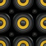 Modèle sans couture de haut-parleur audio Image libre de droits