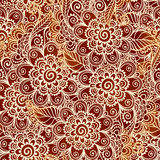 Modèle sans couture de henné de style floral de tatouage Photographie stock