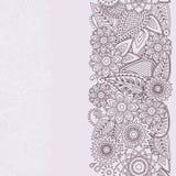 Modèle sans couture de Henna Flowers Mehndi Design Vector Images libres de droits