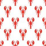 Modèle sans couture de homard Illustration de vecteur Photographie stock libre de droits