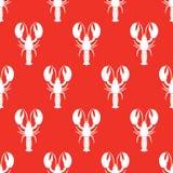 Modèle sans couture de homard Illustration de vecteur Images libres de droits