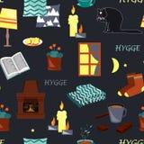 Modèle sans couture de Hygge illustration stock