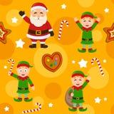 Modèle sans couture de jaune de Joyeux Noël Photographie stock libre de droits