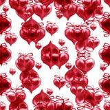 Modèle sans couture de jour du ` s de Valentine d'aquarelle Rouge peint à la main il Photos stock