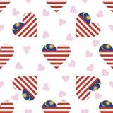 Modèle sans couture de Jour de la Déclaration d'Indépendance de la Malaisie illustration stock