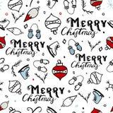 Modèle sans couture de Joyeux Noël Photo libre de droits