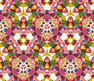 Modèle sans couture de kaléidoscope coloré Photo libre de droits