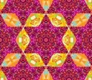 Modèle sans couture de kaléidoscope de vecteur Image libre de droits