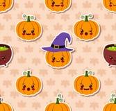 Modèle sans couture de Kawaii Halloween illustration stock