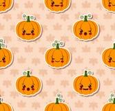 Modèle sans couture de Kawaii Halloween illustration libre de droits