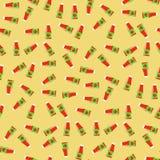 Modèle sans couture de ketchup de tomate illustration stock