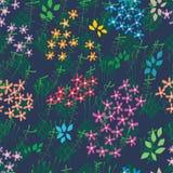 Modèle sans couture de Ketupat de Malais coloré de batik de fleur illustration de vecteur