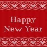 Modèle sans couture de Knit Conception de tricotage de nouvelle année Illustra de vecteur Images stock