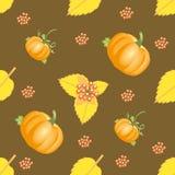 Modèle sans couture de légume d'automne Photo libre de droits