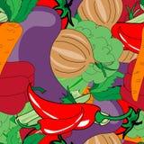 Modèle sans couture de légumes Photographie stock