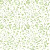 Modèle sans couture de légumes verts Photographie stock libre de droits