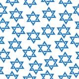 Modèle sans couture de l'étoile de David Modèle juif d'étoile de David de Simfol, texture, papier peint Illustration de vecteur illustration libre de droits