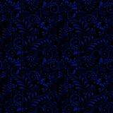 Modèle sans couture de l'ornement national russe sur le fond noir illustration de vecteur