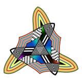 Modèle sans couture de la Bohême d'art tribal Copie géométrique ethnique Texture de répétition colorée de fond Tissu, conception  photo stock