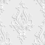 modèle sans couture de la damassé 3d florale Photos stock