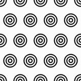 Modèle sans couture de la géométrie avec les cercles concentriques Photos stock