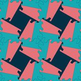 Modèle sans couture de la géométrie d'ornement abstrait de tessellation Photographie stock libre de droits