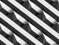 Modèle sans couture de la pyramide 3D de vecteur rayé de collines Images libres de droits