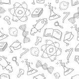 Modèle sans couture de la Science tirée par la main Photographie stock libre de droits