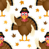 Modèle sans couture de la Turquie de thanksgiving Photos libres de droits
