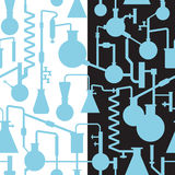 Laboratoire sans couture patttern Images libres de droits