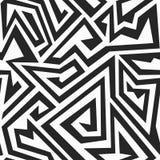 Modèle sans couture de labyrinthe monochrome Images stock