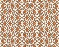 Modèle sans couture de lacement forgé blanc sur le brun illustration libre de droits