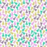 Modèle sans couture de lapins mignons Images libres de droits