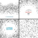 Modèle sans couture de lettres aléatoires Image libre de droits