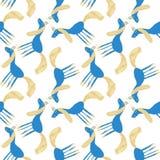 Modèle sans couture de licorne colorée mignonne tirée par la main Image libre de droits