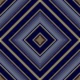Modèle sans couture de losange rayé géométrique Bleu abstrait de vecteur Image stock